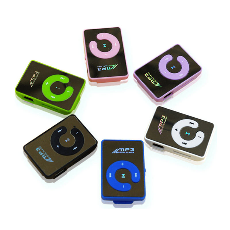 MP3 Player 128MB Mini Clip MP3 Music Player Subwoofer Sport Walkman MP3 8GB TF Card Speaker 6 Colors