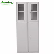 KD Steel 2 Door Office Cupboard Metal Filing Cabinet/Glass Door Cupboard