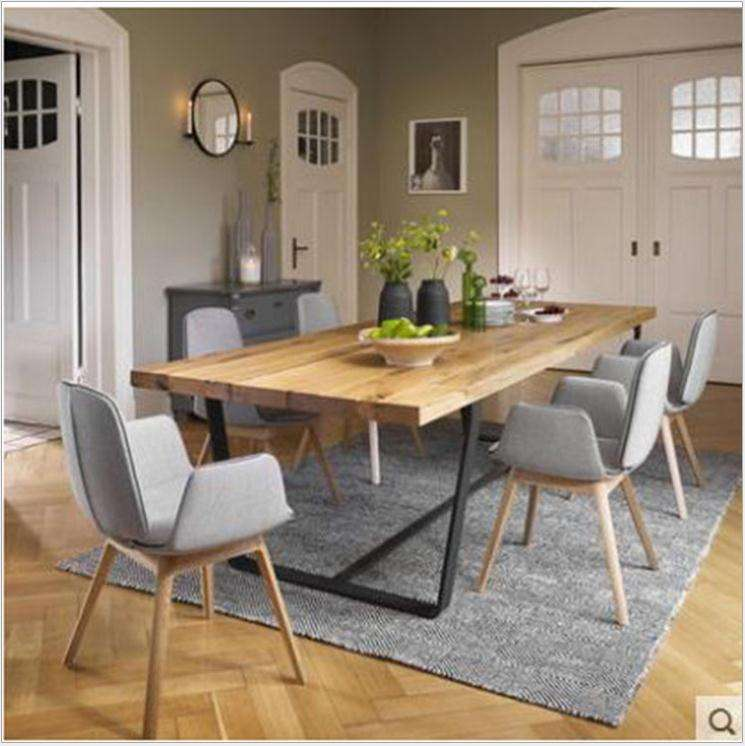Morden wood dining table dining room furniture 1 table 4 chairs 6 chairs combination