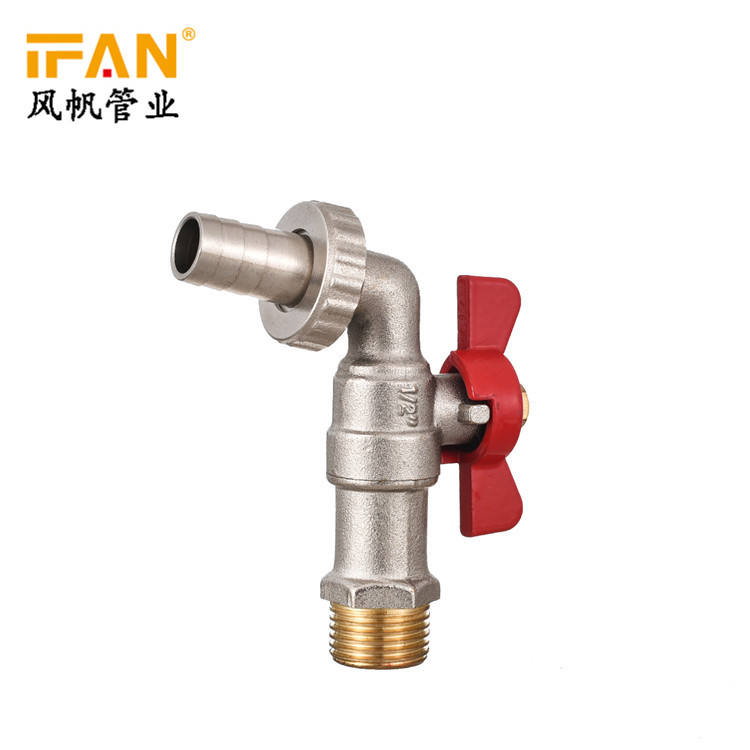 IFAN Manufactures Supplier Brass Bibcock High Pressure Valve Brass Butterfly Handle 1/2 inch Faucet Taps Bathroom faucet bibcock