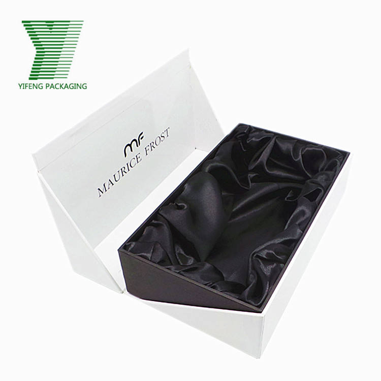 Custom special shape white cardboard jewelry necklace packing cosmetic hair extension packaging appeal scarf package box