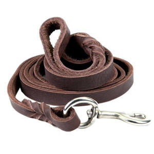 2020 new arrive leather Luxury pet product Genuine Leather Pet Dog Leash