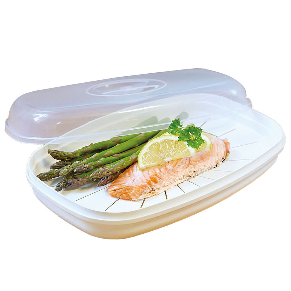 Microwave Steamer Cookware for Fish 0%BPA Amazon Hot Sale Factory Wholesale Price
