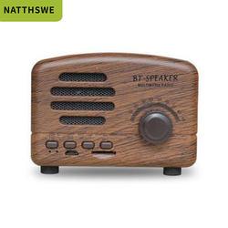 Portable Handsfree Fm Radio Shape Vintage Radio Retro Mini Music Wireless Bluetooths Speaker