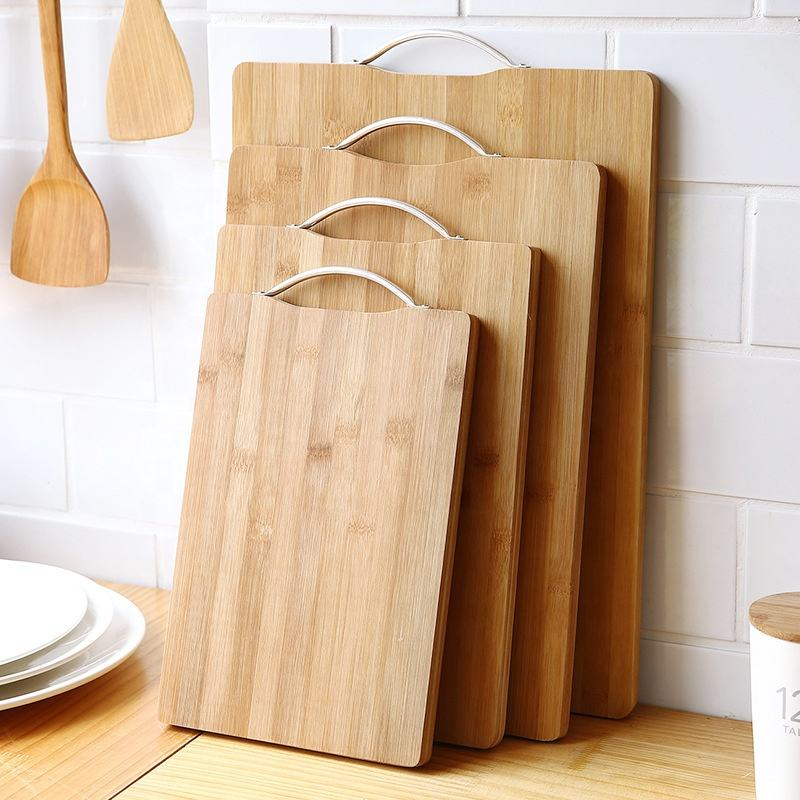 Natural Bamboo Cutting Board,Non-slip Chopping Board
