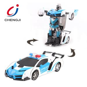 Juguetes Al Por Mayor Brinquedo 1:18 Smart Remote Control Robot Car Toy Deformation Robot Car For Kids