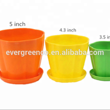 High Quality Wave Shape Flower Pot/colorful Small Bucket/garden Plastic Flower Planter