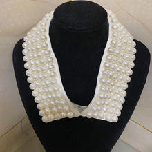 Fashion Jewelry Women White/Black Pearl Handmade Collar Pearl Necklace