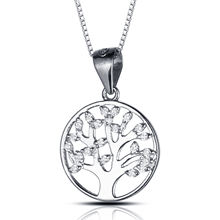 Tree Of Life Cubic Zirconia 925 Sterling Silver Jewelry Pendant