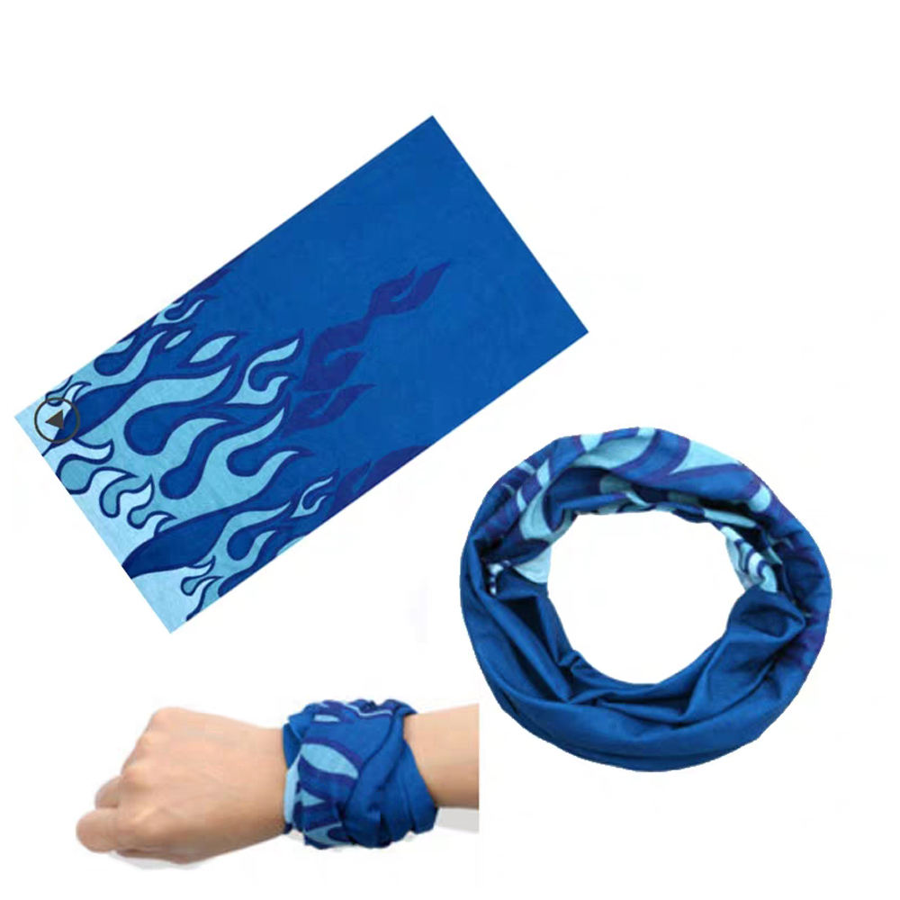 Seamless Polyester Stretch Tube Outdoor Elastic Hair Band Tubular Headwear Bandana