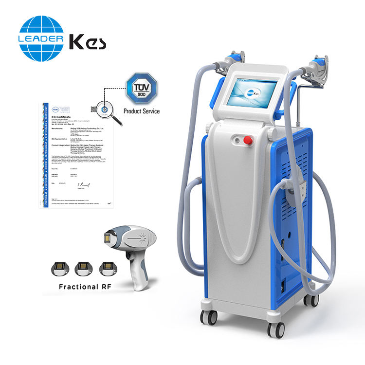 CE ISO Elight/IPL/Nd yag laser/RF/fractional rf 5in1 100 best beauty products