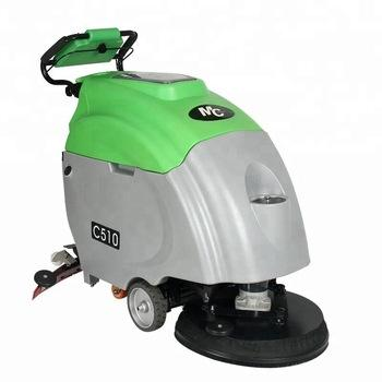 C510 walk-behind industrial tile floor scrubber cleaning machine for epoxy floor