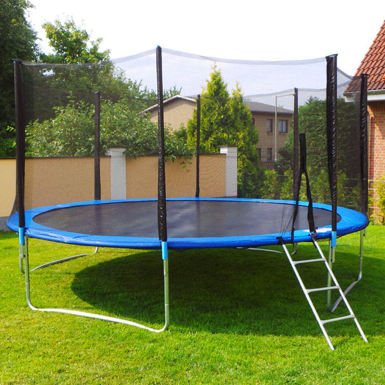 Jumping Bed 8 FT Safety Circle Outdoor Small Trampoline with Net