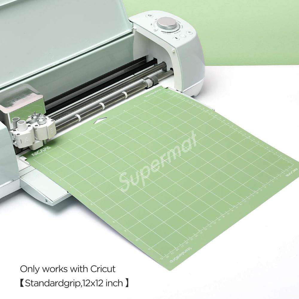Nicapa 5000times Reusable Cutting Mat for Cricut Maker(Standardgrip,12x12 inch,1Mat)