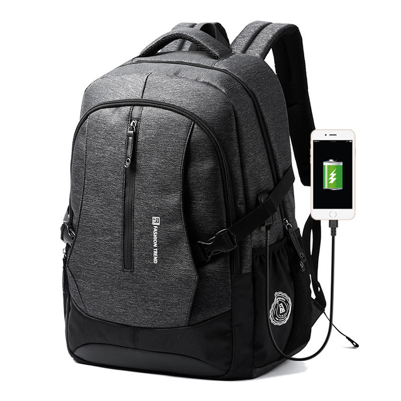 Moyyi men boys backpack bag USB charging Anti-thief bag travel outdoor backpack for international travel