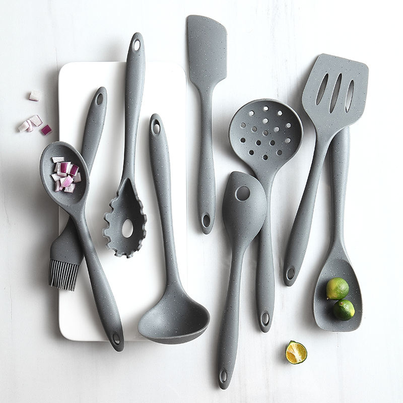 best seller amazon 9pcs Kitchen Accessories silicone kitchenware Cooking Utensil Set