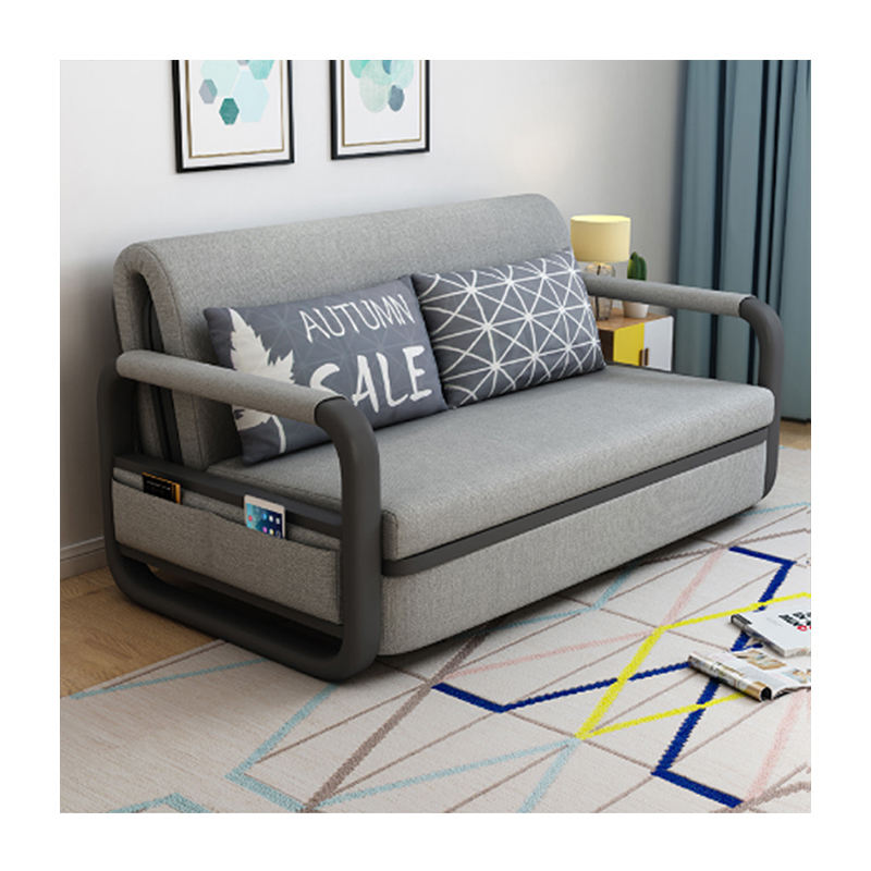 China manufacturer supply home luxury fabric folding cum sofa bed