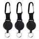 Heavy Duty Plastic Badge Holder Carabiner Lanyard Retractable Badge Reel Key Chain with Stainless Cable Cord