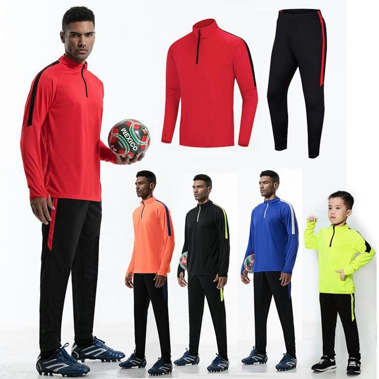 Professional Full Set Sports Football Tracksuit Child Soccer Tracksuit Training Man