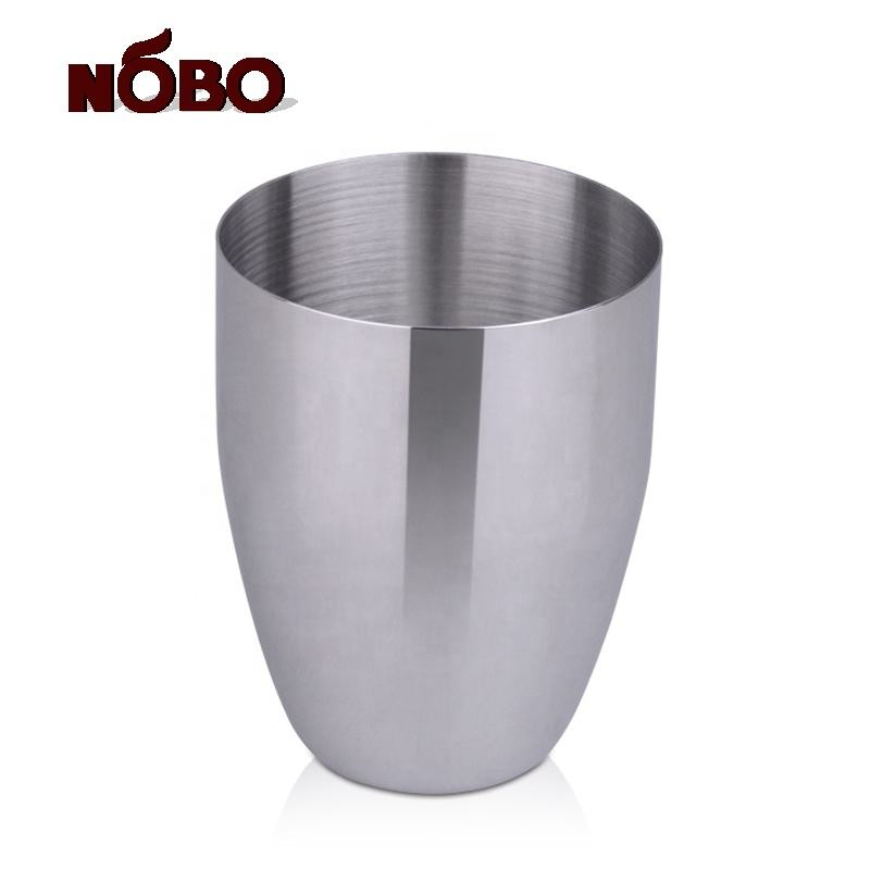 Custom Multi-use Bar Drinking Cooling Metal Cup Single Walled Stainless Steel Milk Tea Cup For Sale