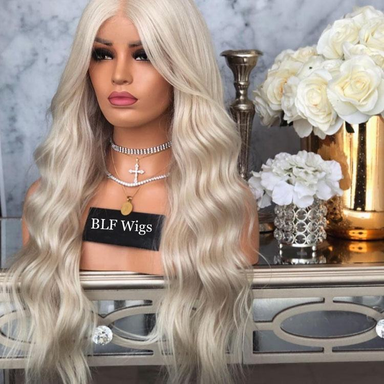 Blonde Human Hair Full Lace Wig Cuticle Aligned Virgin Brazilian Hair Wigs Transparent HD Lace