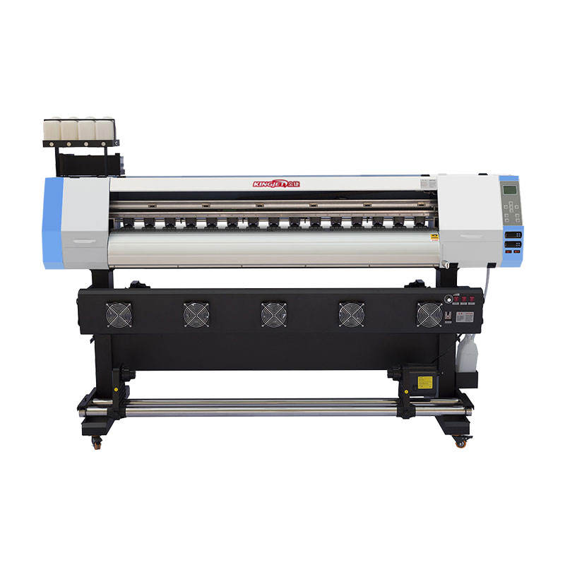 Kingjet 1.6m 1.8m 3.2m dx5 xp600 printhead plotter vinyl flex banner eco solvent printer