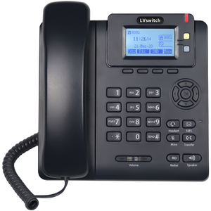 Warna Hitam IP Telepon VoIP Telepon Entry Level IP Phone Telepon