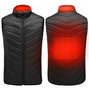 USB Charging Heated Body Warmer Down Vest Size Adjustable Heated Men Plus Size Jacket For Outdoor Hike Hunt Camp