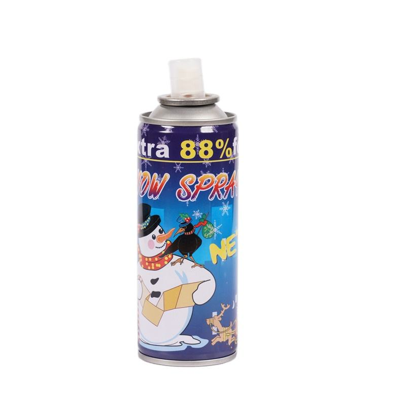 China Magic Party Gunsten Kunstmatige Witte Kleur Schuim Vlok Sneeuw Spray Voor Chirstmas Decoraties 150Ml 250Ml Lage Prijs