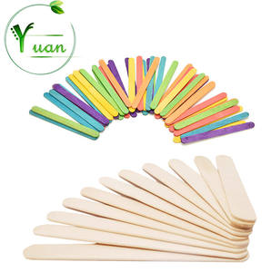 Biodegradable color ice cream popsicles wooden sticks