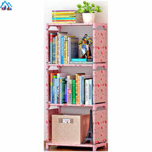 DIY lovely cheap furniture bookcase clear bookshelf dismountable plastic bookshelves