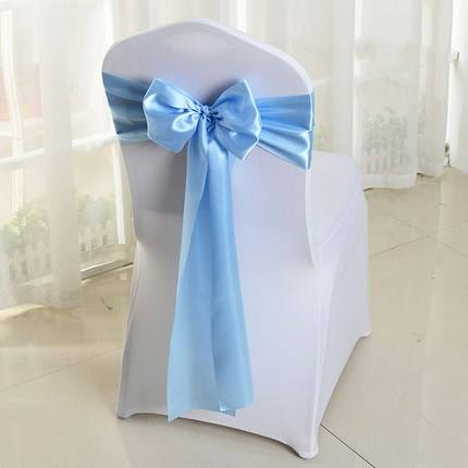 Wholesale chair tie backs ribbons satin polyester chair sashes for wedding hotel party banquet festival chair decoration