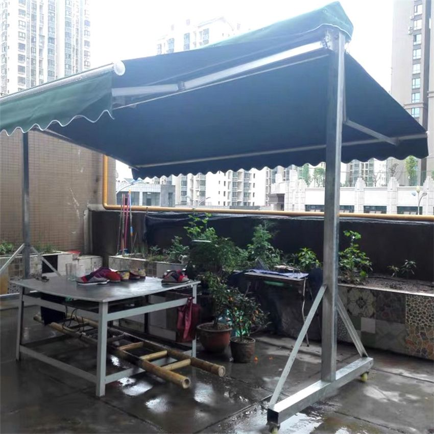 Youya steady aluminum vertical shop awning customizable front door canopy shelter with led light