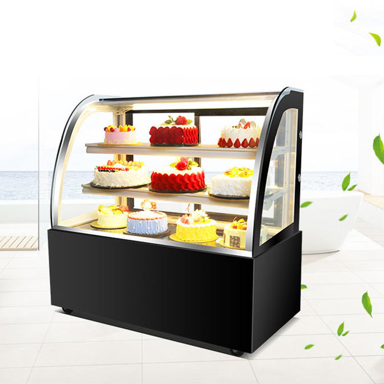 Counter Kulkas Meja Kecil Kue Atas Display Showcase Kulkas Kabinet