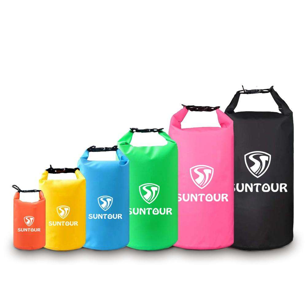 2L 3L 5L 10L 15L 20L 30L 40L Foldable Waterproof Dry Bag PVC Custom Logo Floating Lightweight Sack Ocean Pack Promotional