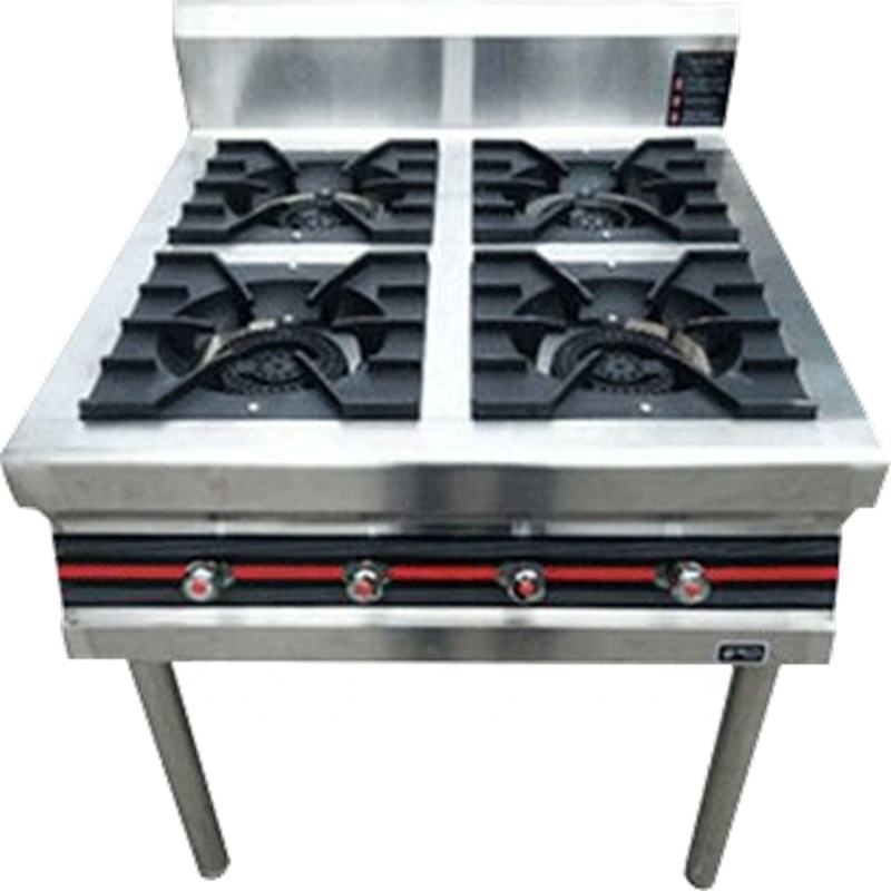 Commercial stainless steel stove gas up the furnace 3 burner gas stove