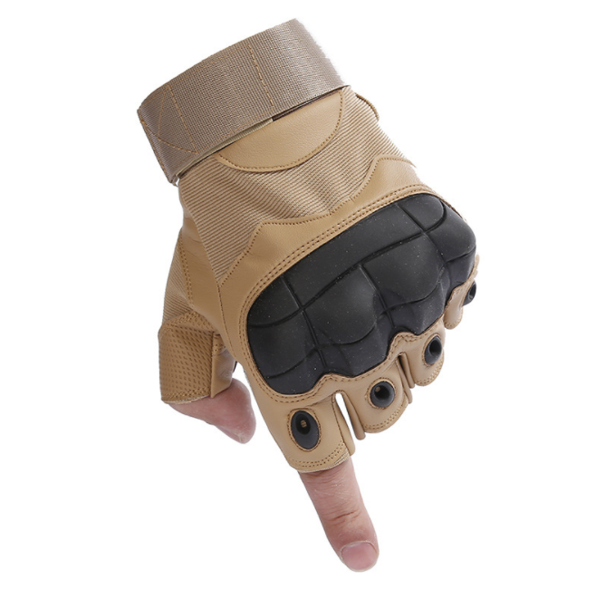 Military TPR Hard Knuckle Sport Half Finger Tactical Gloves