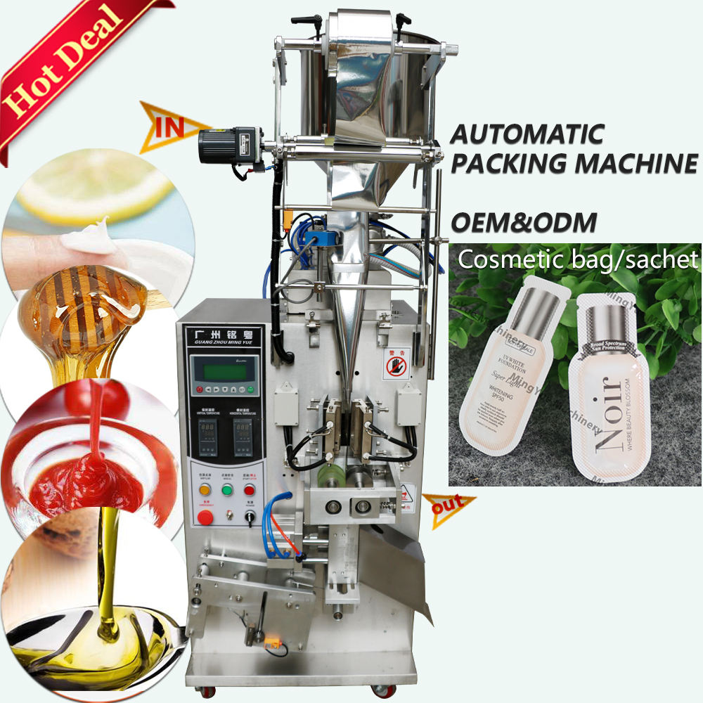 Automatic Vertical Small Bag Liquid Pouch Honey Stick Sachet Filling Packing Machine Milk Jam Soup Water Oil Packaging Machine