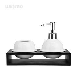 Modern white porcelain bathroom accessories