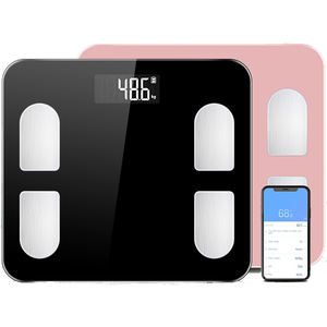 J&R IOS Fitness App 180kg R Corner Glass Bluetooth Digital Body Fat Weighing Scales For Bathroom