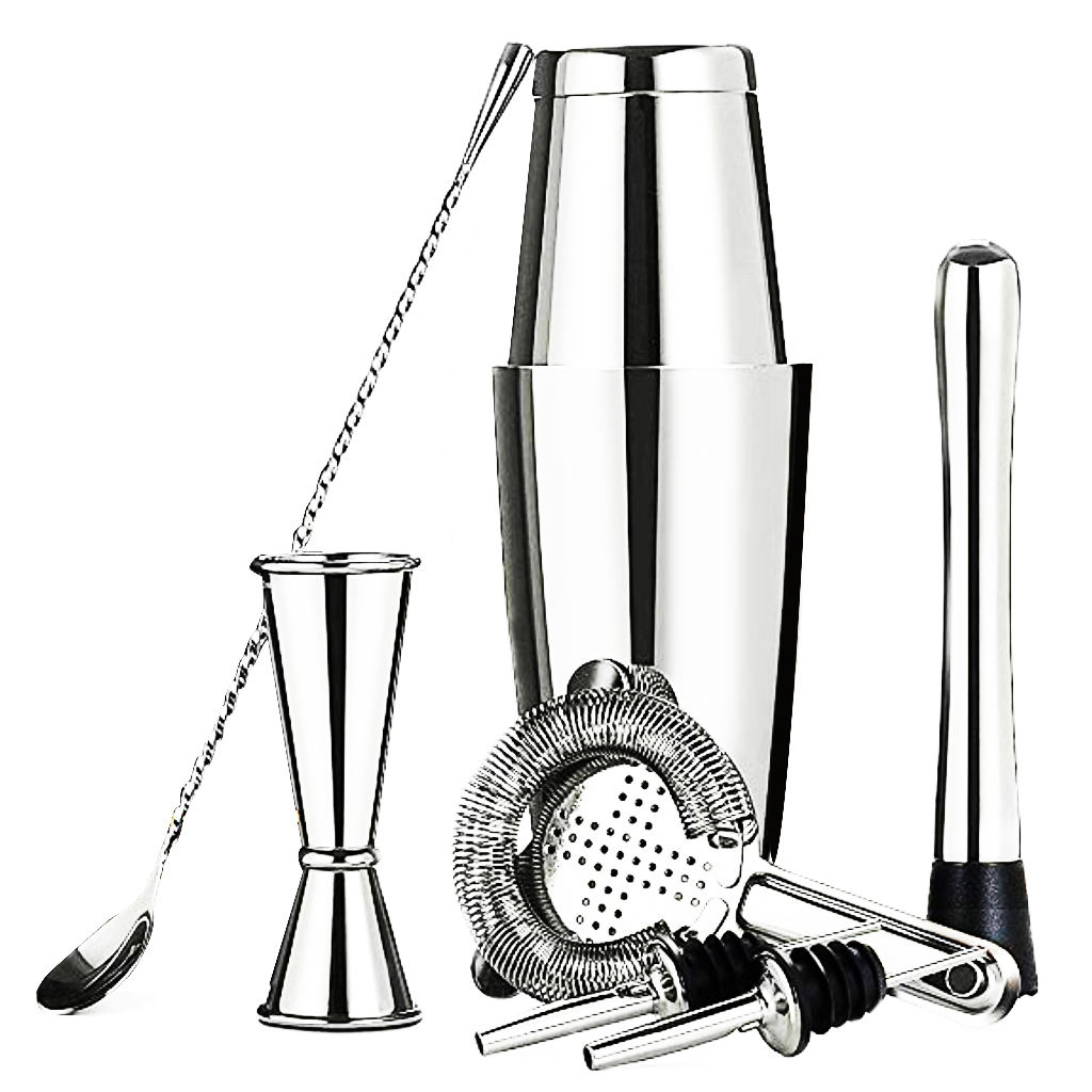 Cocaktailshaker 8 Pieces 750 ml and 550 ml Boston Cocktail Shaker Kit Bar Tool Set for Bar,home,party gift