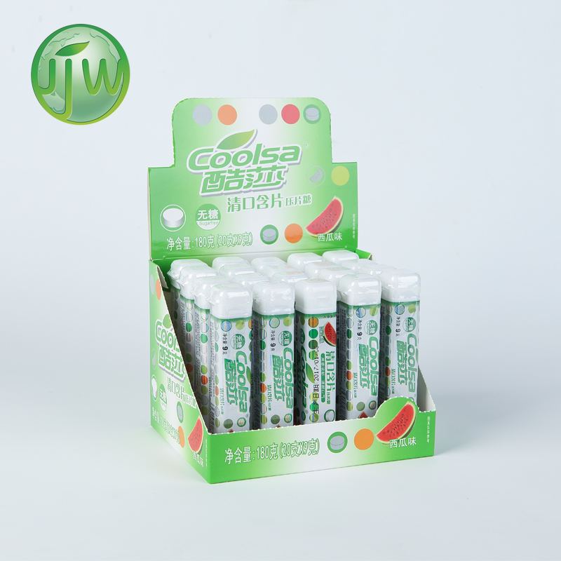 oem round shape breath care refresh sugar free cool mints press candy