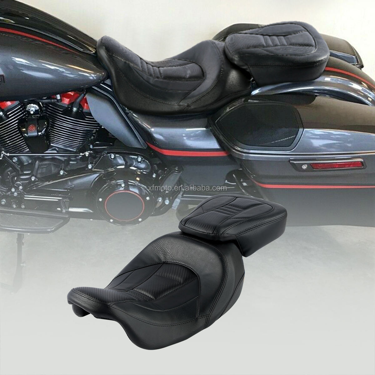 TCMT Conducente Passeggero Sedile del water Set Set Fit Per Harley Touring CVO Street Glide 2009-2020 XF2906C231