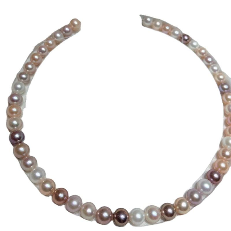 high quality strong luster 9-10mm freshwater perfect round pearl necklace loose pearls strand