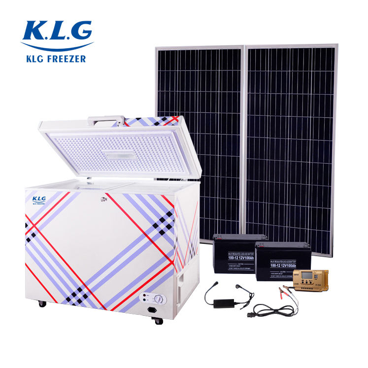 100L 12V DC solar deep chest freezer with battery powered freezer