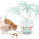 Cat toy-feeding tumbler,electric interactive toy with self-rotating feather