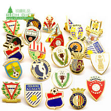 pin manufacturer design your own sporting discuses soft ball football club badge enamel pin custom hard for sports club souvenir