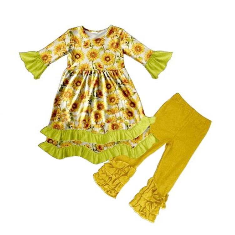 wholesale sunflower series baby girls fashionable outfit fash sale
