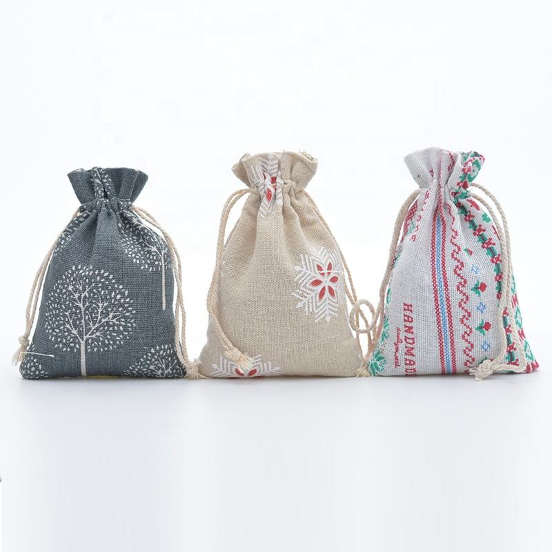 (13*18cm)Rustic Wedding Gift Favor Bags Sacks Bags Printing Burlap drawstring bag