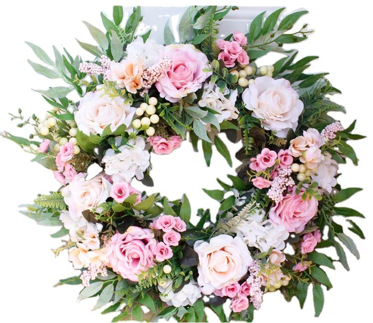 Door Wreath Summer Decorative Flower Rose Wreath Wedding Party Supplies